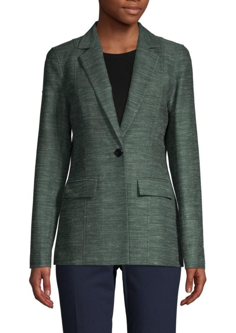 Lafayette 148 Textured Cotton, Linen & Silk-Blend Jacket