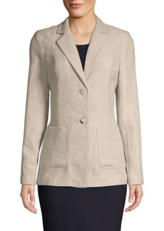 Lafayette 148 Textured Linen & Cotton Blend Jacket