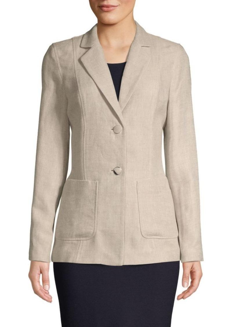 Lafayette 148 Textured Linen & Cotton Blend Jacket