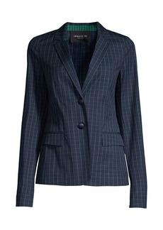 Lafayette 148 Thatcher Cotton Hatch-Pattern Blazer