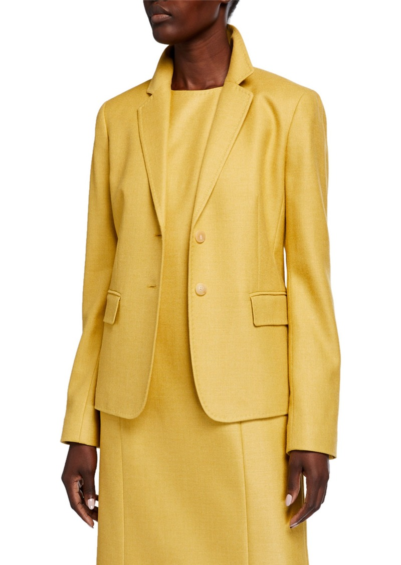 Lafayette 148 Thatcher Studio Weave Two-Button Blazer