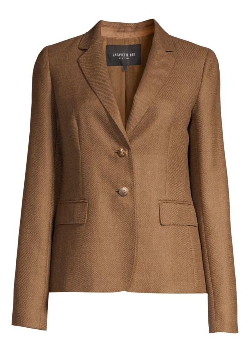 Lafayette 148 Thatcher Textured Wool & Silk Blazer