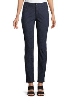 Lafayette 148 Thompson Abstract Jacquard Slim-Leg Jeans