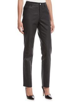 Lafayette 148 Thompson Curvy Slim-Leg Waxed Denim Jeans