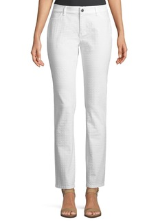 Lafayette 148 Thompson Pebbled Jacquard Jeans