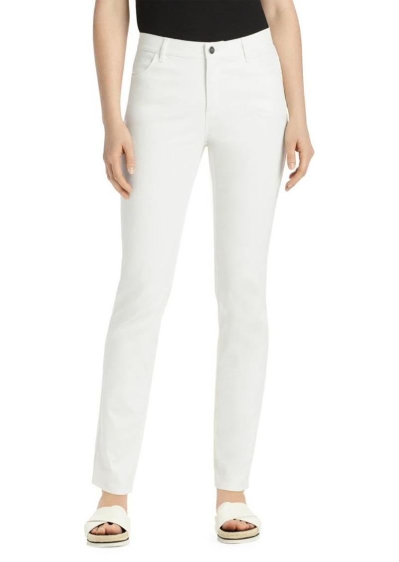 Lafayette 148 Thompson Waxed-Denim Jeans