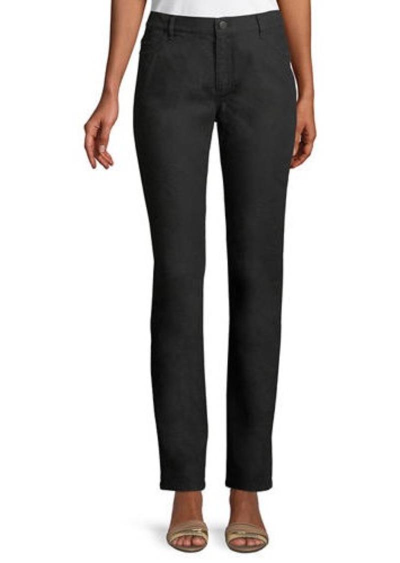 Lafayette 148 Thompson Yarn-Dyed Denim Slim-Leg Jeans