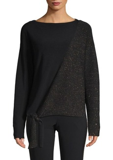 Lafayette 148 Tie-Front Pullover
