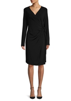 Lafayette 148 Tie-Waist Knee-length Dress