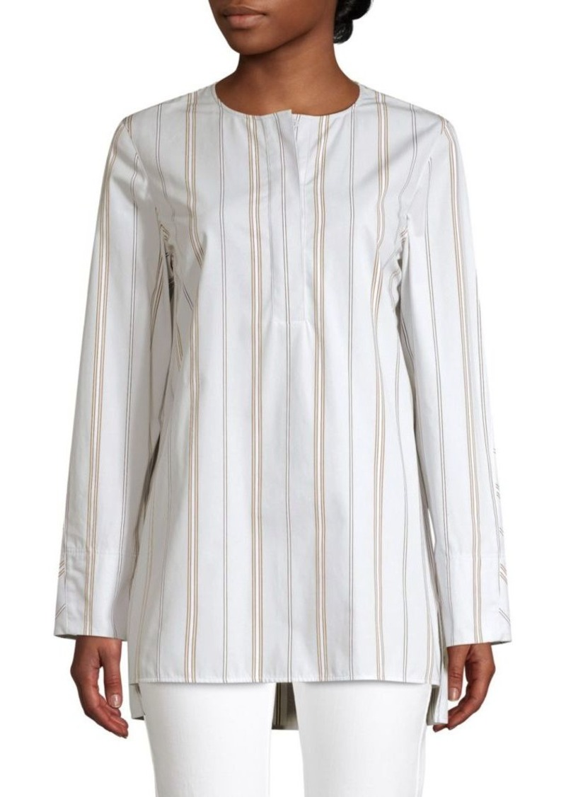 Lafayette 148 Tilly Striped Cotton Tunic