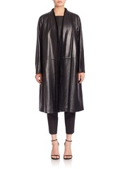 Lafayette 148 Tissue Weight Milana Leather & Shearling Coat