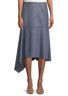 Lafayette 148 Tori Imperial Stripes Skirt