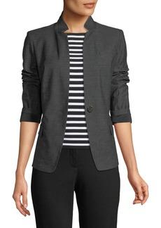 Tristan Stand-Collar Blazer Jacket