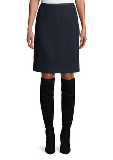 Lafayette 148 Tula Nouveau Crepe Wool Pencil Skirt