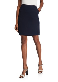 Lafayette 148 Tula Nouveau Crepe Wool Pencil Skirt