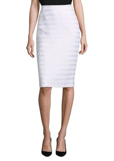 Lafayette 148 Tweed Pencil Skirt