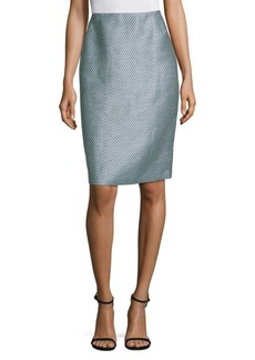 Lafayette 148 Twill Weave Pencil Skirt