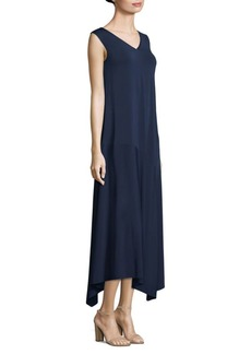 Lafayette 148 V-Neck Asymmetrical Dress