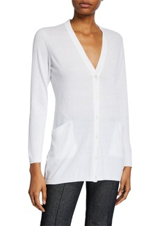 Lafayette 148 V-Neck Fashion Side Cardigan