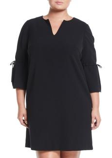 Lafayette 148 V-Neck Sleek Tech Cloth Dress