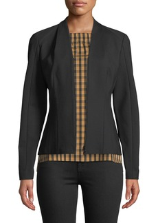 Lafayette 148 V-Neck Zip-Front Ponte Knit Jacket