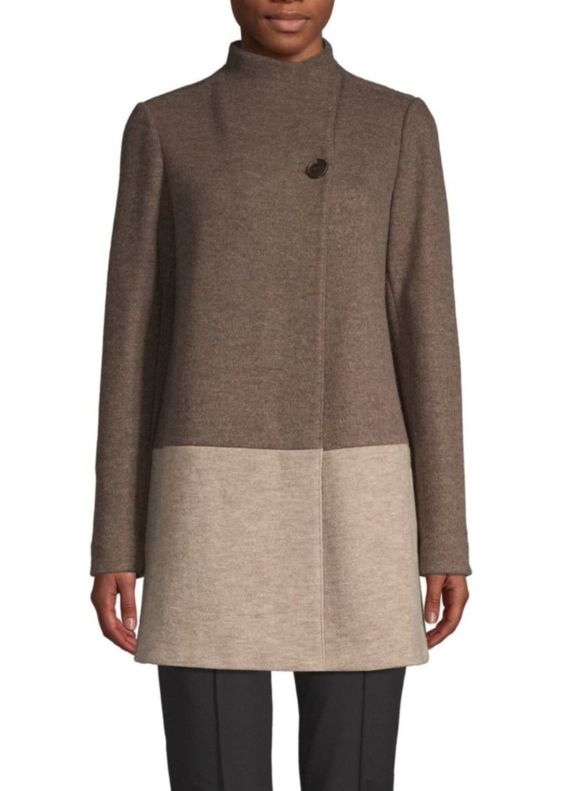 Lafayette 148 Valina Virgin Wool Blend Coat