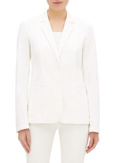 Lafayette 148 Vangie Button-Front Denim Jacket