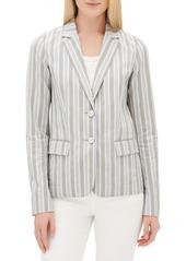 Lafayette 148 Vangie Elixir-Stripe Button-Front Jacket