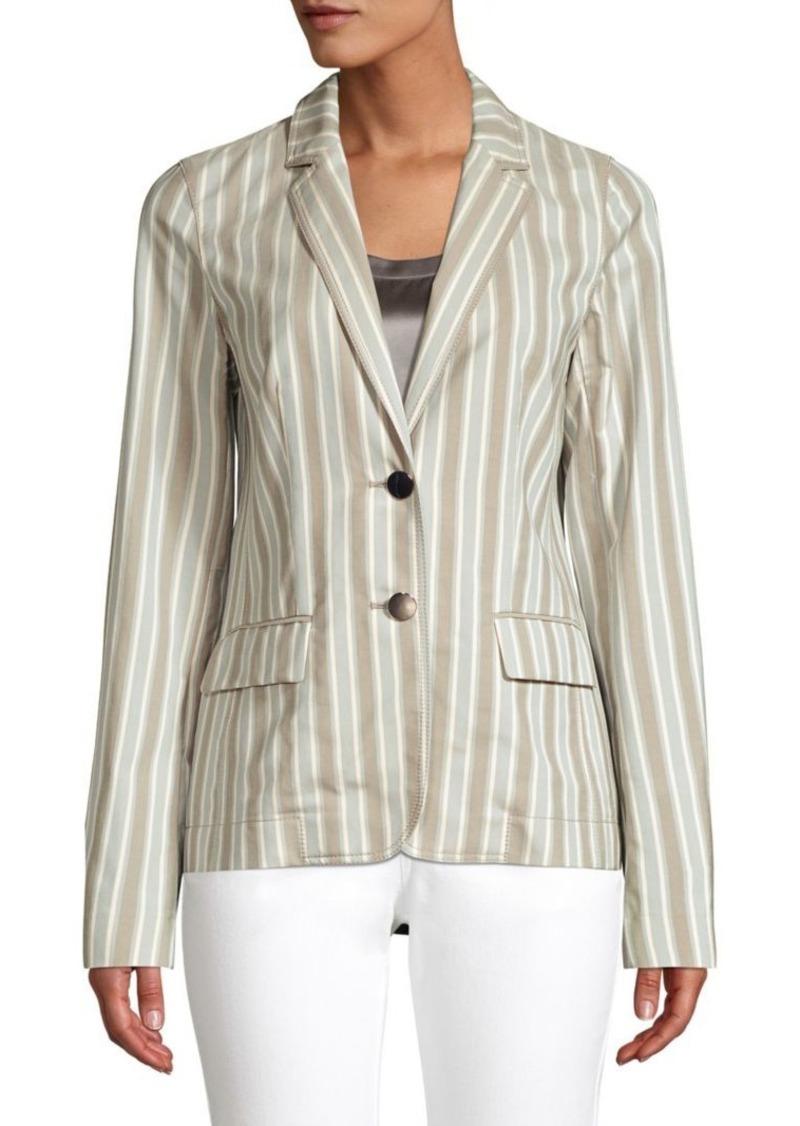 Lafayette 148 Vangie Striped Cotton Blazer