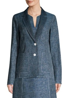 Lafayette 148 Vangie Sublime Space Dye Cotton Jacket