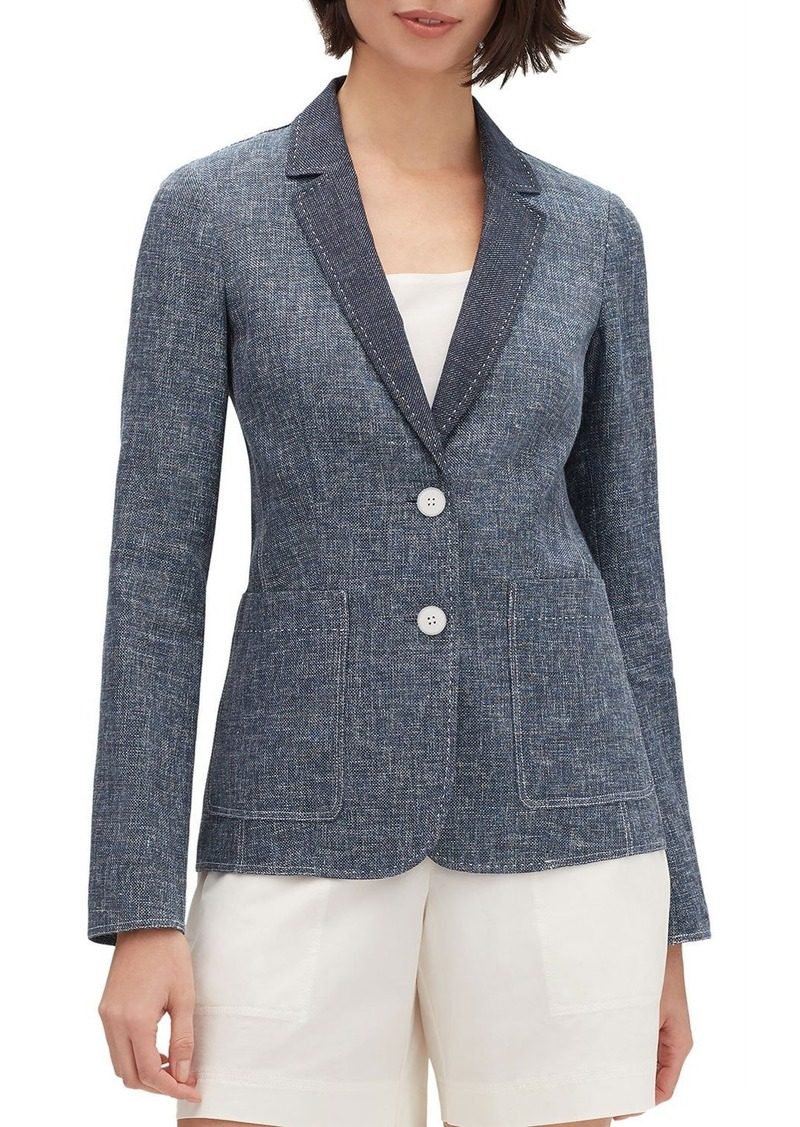 Lafayette 148 Vangie Sublime Space-Dye Two-Button Jacket