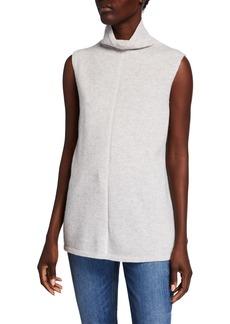 Lafayette 148 Vanise Mock-Neck Sleeveless Cashmere Sweater