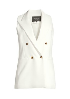 Lafayette 148 Vaughn Double-Breasted Vest