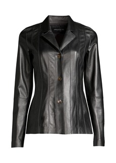 Lafayette 148 Warrick Leather Jacket