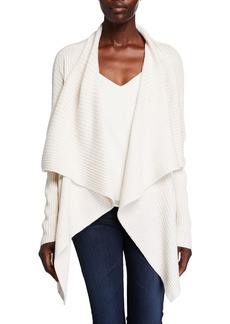 Lafayette 148 Waterfall Wool-Silk  Cardigan