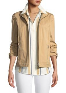 Lafayette 148 Weston Italian Gabardine Jacket