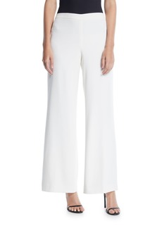 Lafayette 148 Wide-Leg Side Zip Cotton Pants