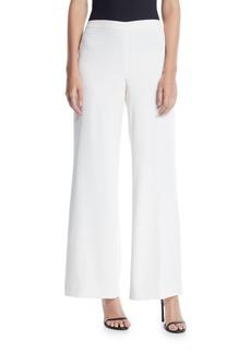 Lafayette 148 Wide-Leg Side Zip Cotton Pants