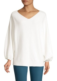 Lafayette 148 Wide V-Neck Dolman Sweater