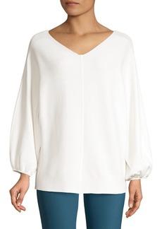 Lafayette 148 Wide V-Neck Dolman Sweater