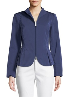 Lafayette 148 Willow Zip-Front Blazer Jacket