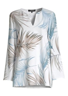Lafayette 148 Wilmer Botanical Print Blouse