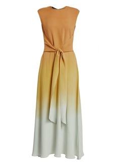 Lafayette 148 Winslet Prism Ombré Tie-Front Maxi Dress
