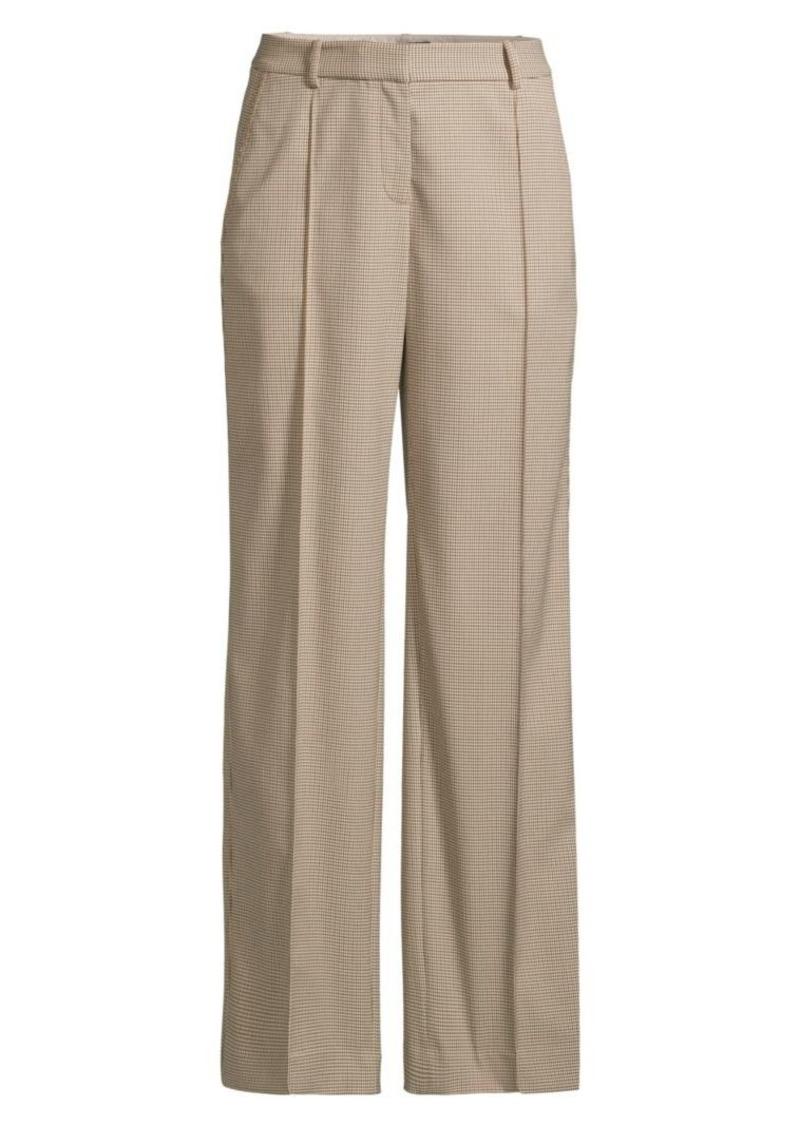Lafayette 148 Winthrop Micro Check Pants