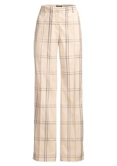 Lafayette 148 Winthrop Plaid Trousers