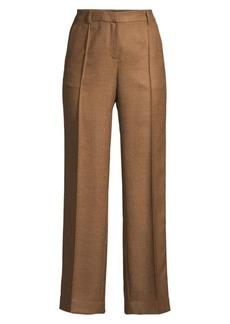 Lafayette 148 Winthrop Textured Wool & Silk Wide-Leg Pants