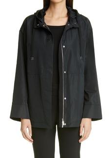 Women's Lafayette 148 New York Ansel Taffeta Jacket With Removable Hood