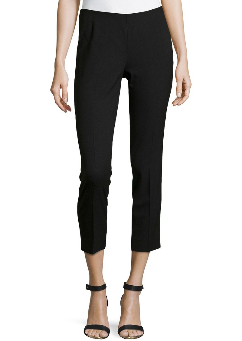 Lafayette 148 Wool-Blend Cropped Pants  Black