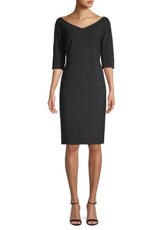 Lafayette 148 Wool-Blend Knee-Length Dress
