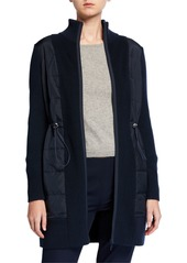 Lafayette 148 Wool-Blend Quilted Cardigan Coat